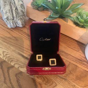 Authentic Cartier Gold Men's Cufflinks
